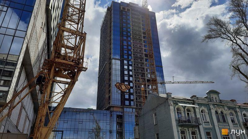 Ход строительства МФК Metropole, 3 дом, апрель 2021