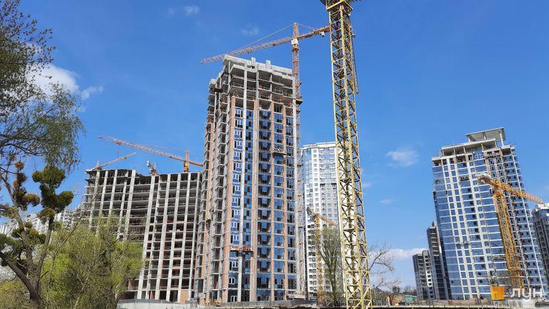 Хід будівництва ЖК Новопечерські Липки, 7 черга (3, 4 будинки), квітень 2021