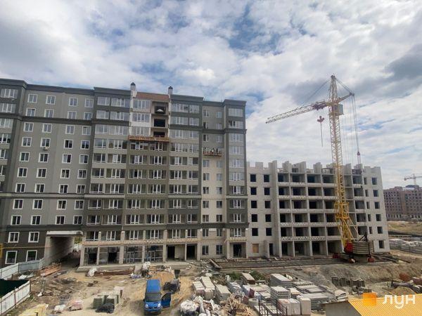Ход строительства ЖК Millennium State, 3 дом (секция Д), 4 дом (секция 4А), апрель 2021