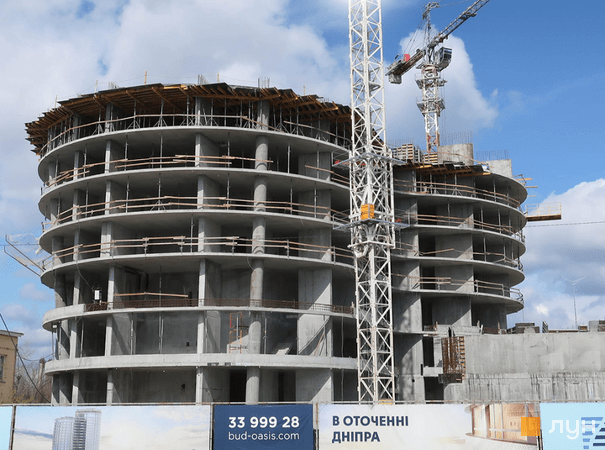 Хід будівництва ЖК OASIS, 1-2 секції, квітень 2021