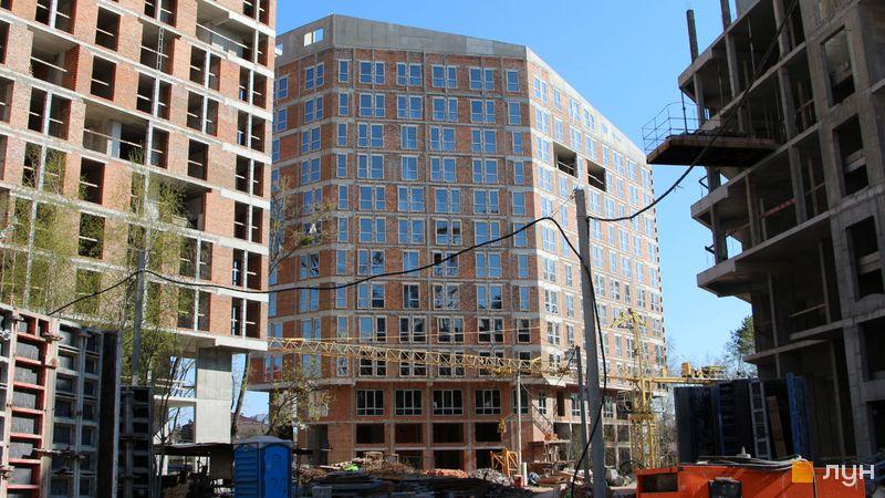 Ход строительства ЖК Madison Gardens, 1 дом, апрель 2021