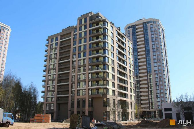 Хід будівництва ЖК Krona Park II, 1.1 будинок, квітень 2021