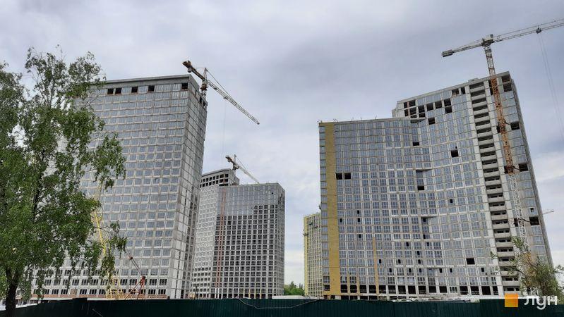 Хід будівництва ЖК Dibrova Park, 1-3 будинки, травень 2021