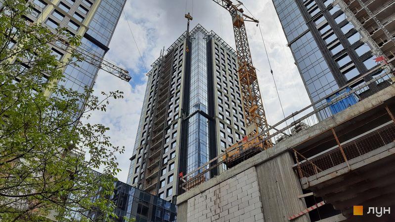 Ход строительства МФК Metropole, 2 дом, май 2021