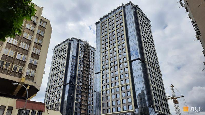 Ход строительства МФК Metropole, 1-2 дома, май 2021