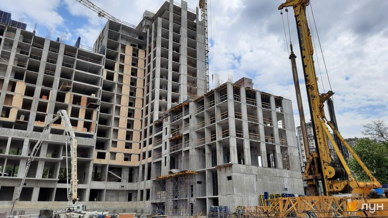 Ход строительства ЖК Stanford, 105 - 107 секции, май 2021
