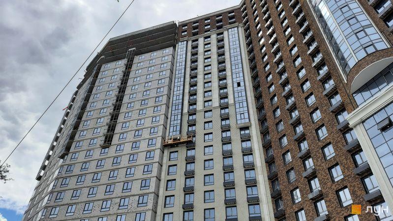Хід будівництва ЖК Podil Plaza & Residence, 1 будинок (секція 2), травень 2021