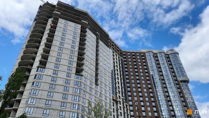 Хід будівництва ЖК Podil Plaza & Residence, 1 будинок (секції 2, 3), травень 2021