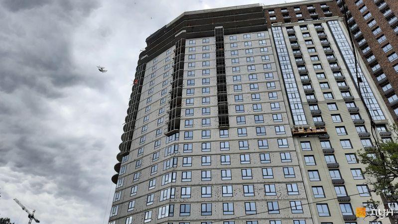 Хід будівництва ЖК Podil Plaza & Residence, 1 будинок (секція 1), травень 2021