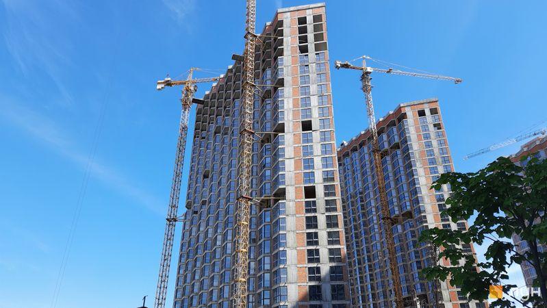 Ход строительства ЖК Заречный, 7 дом, май 2021