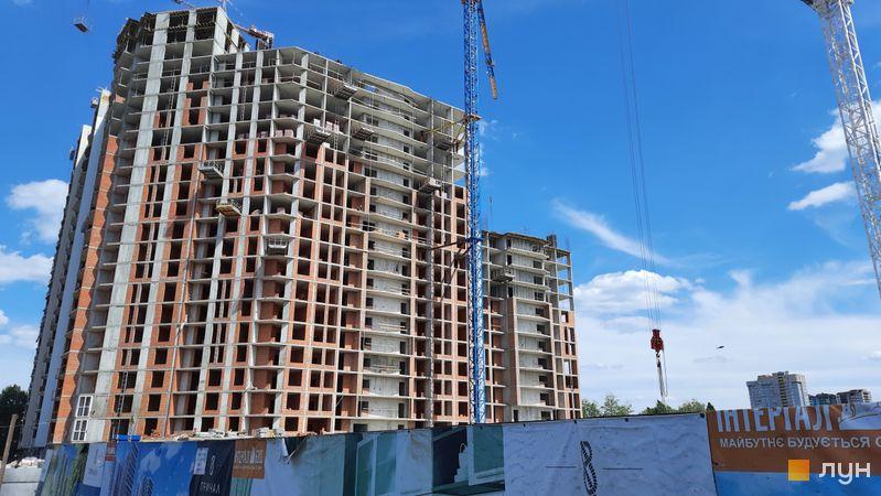 Хід будівництва ЖК Причал 8, 1 будинок (секції 5-7), травень 2021