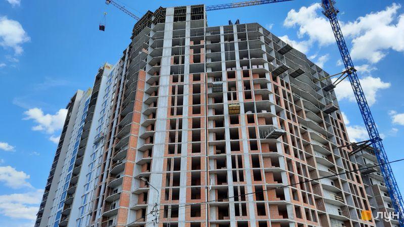 Хід будівництва ЖК Причал 8, 1 будинок (секції 3-6), травень 2021