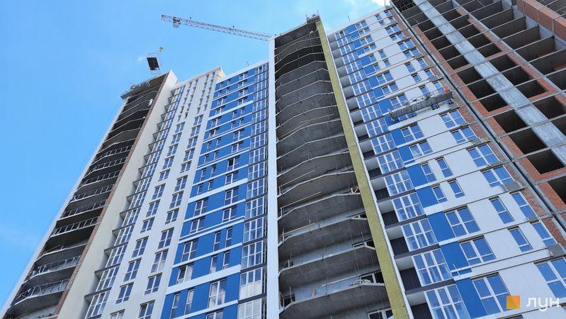 Хід будівництва ЖК Причал 8, 1 будинок (секції 3, 4), травень 2021