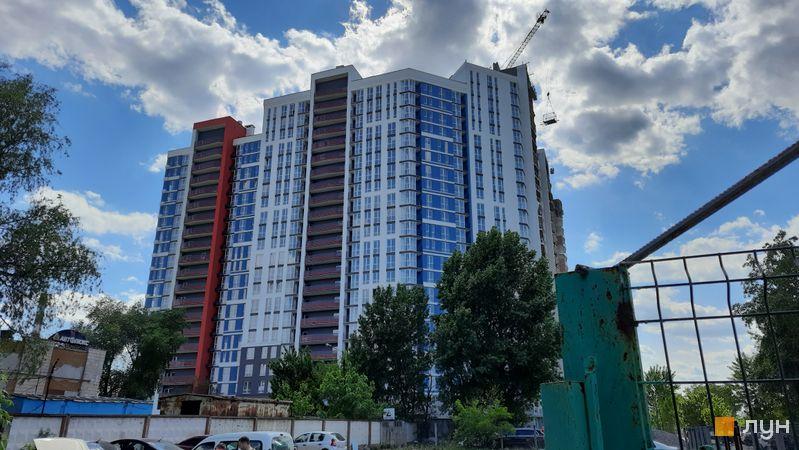 Хід будівництва ЖК Причал 8, 1 будинок (секції 1-3), травень 2021
