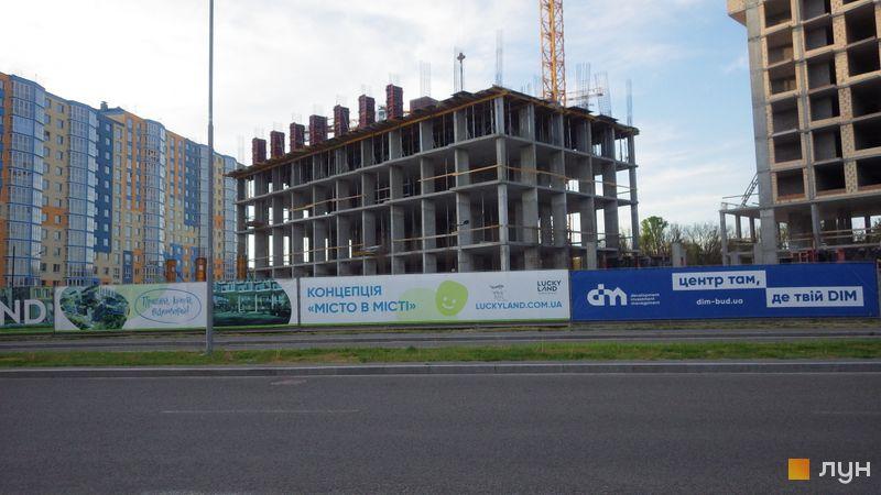Ход строительства ЖК LUCKY LAND, 4 дом (секция 3), май 2021