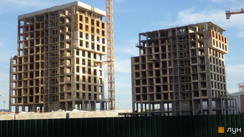 Ход строительства ЖК LUCKY LAND, 4 дом (секция 1,2), май 2021