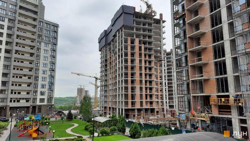 Хід будівництва ЖК Новопечерські Липки, 7 черга (2 будинок), травень 2021