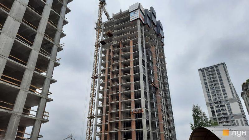 Хід будівництва ЖК Новопечерські Липки, 7 черга (1 будинок), травень 2021