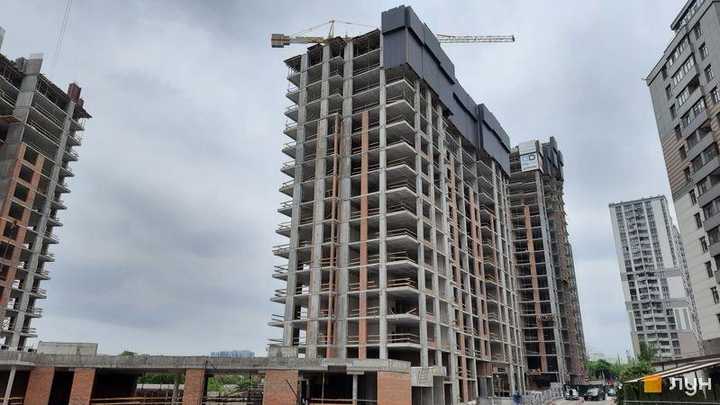 Хід будівництва ЖК Новопечерські Липки, 7 черга (1, 2 будинки), травень 2021