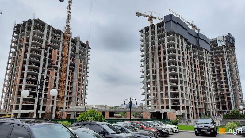 Хід будівництва ЖК Новопечерські Липки, 7 черга (2, 3 будинки), травень 2021
