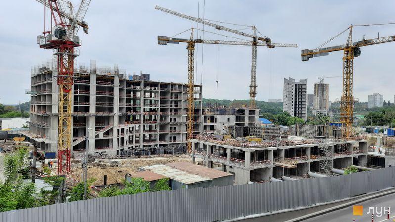 Ход строительства ЖК Fjord, 4-9 секции, май 2021