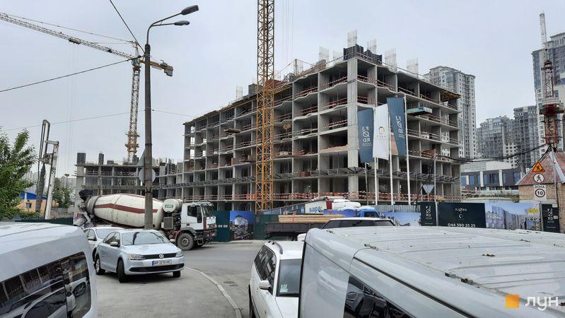 Ход строительства ЖК Fjord, 4-6 секции, май 2021