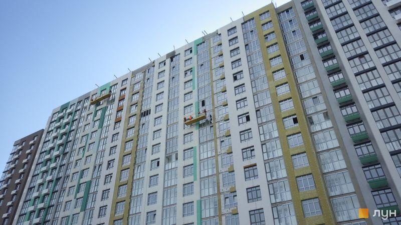 Ход строительства Місто Квітів. Парковий квартал, 4 дом (секции 10а.1, 10а.2), май 2021