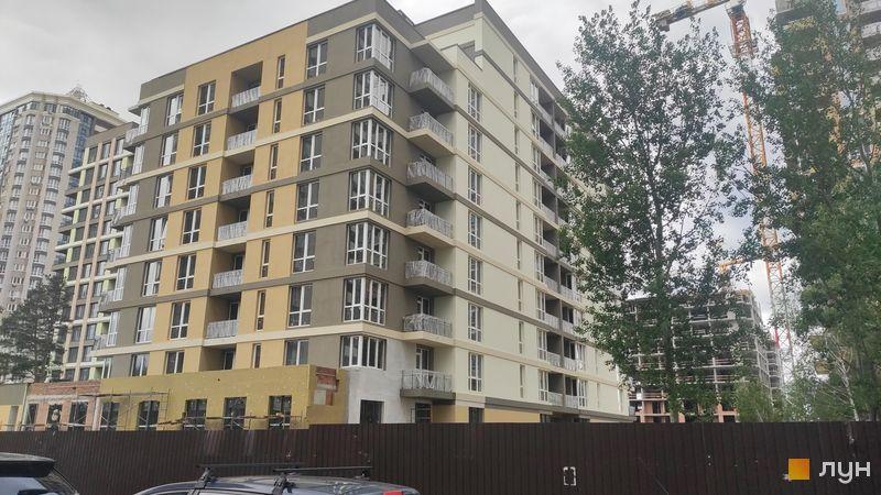 Ход строительства ЖК Krona Park II, 1.2 дом, май 2021