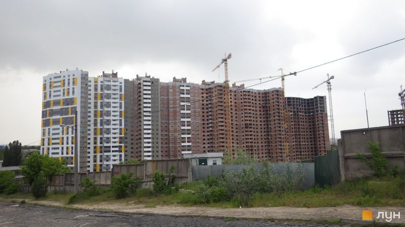 Хід будівництва ЖК Голосіївська Долина, 1 будинок (секції 1-9), травень 2021