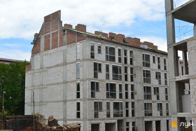 Ход строительства ЖК Містечко Підзамче, ЖК Новый Форт (секция Б1), июнь 2021