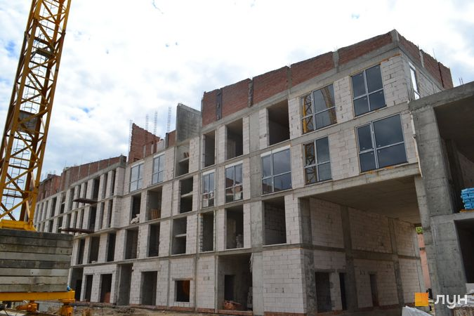 Ход строительства ЖК Містечко Підзамче, ЖК Брама (секции А1-А2), июнь 2021