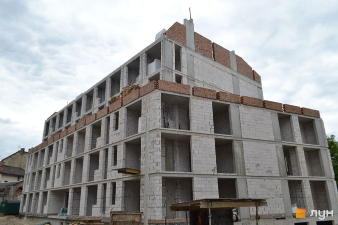 Ход строительства ЖК Містечко Підзамче, ЖК Новый Форт (секция В1), июнь 2021