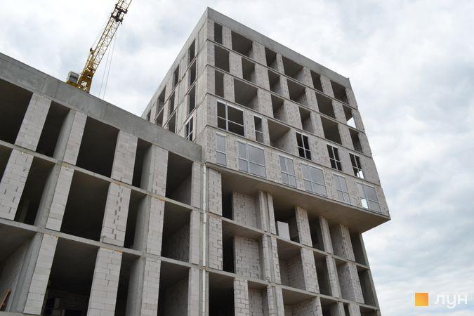 Ход строительства ЖК Містечко Підзамче, ЖК Вежа (секции А2-А3), июнь 2021