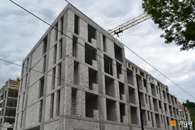Ход строительства ЖК Містечко Підзамче, ЖК Новый Форт (секция Б2), июнь 2021