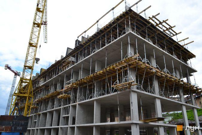 Ход строительства ЖК Містечко Підзамче, ЖК Новый Форт (секция В4), июнь 2021