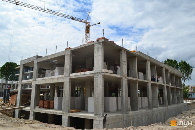 Ход строительства ЖК Містечко Підзамче, ЖК Брама (секции Б2-Б3), июнь 2021