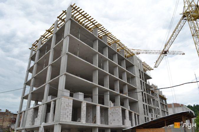Ход строительства ЖК Містечко Підзамче, ЖК Новый Форт (секция В2-В3), июнь 2021