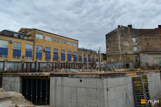 Ход строительства ЖК Містечко Підзамче, ЖК Новый Форт (секция Г2), июнь 2021