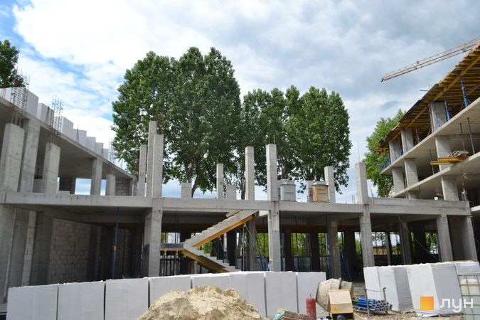 Ход строительства ЖК Містечко Підзамче, ЖК Брама (секция А6), июнь 2021