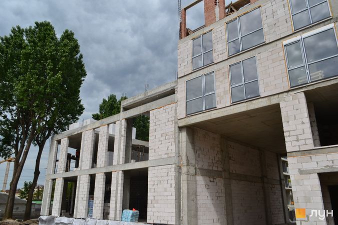 Ход строительства ЖК Містечко Підзамче, ЖК Брама (секция А7), июнь 2021