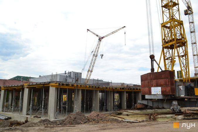 Ход строительства ЖК Містечко Підзамче, ЖК Вежа (секция 7.3), июнь 2021