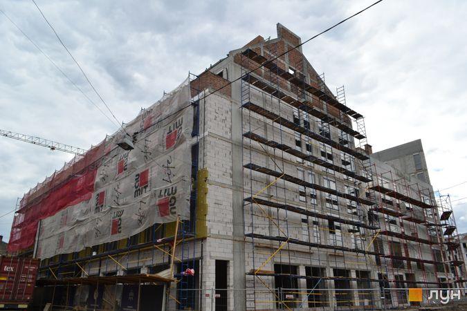 Ход строительства ЖК Містечко Підзамче, ЖК Новый Форт (секция А3), июнь 2021