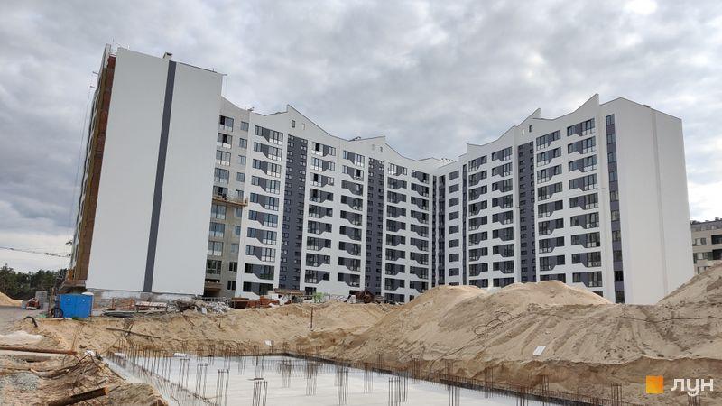 Ход строительства ЖК Авиатор, 2 дом (секции 1-5), май 2021