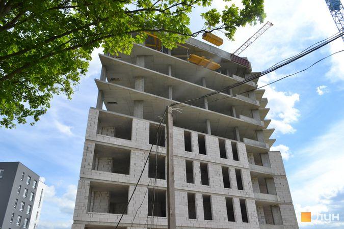 Хід будівництва ЖК Голоські кручі, 1 будинок, червень 2021