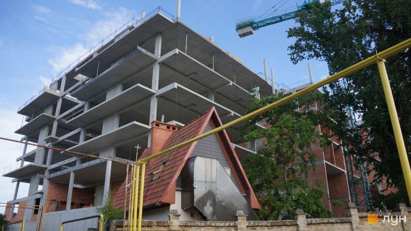 """Хід будівництва Клубний будинок """"Сапфір"""", Будинок, червень 2021"""