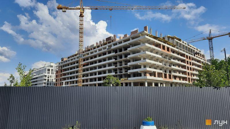 Хід будівництва Житловий район Rybalsky, 11 будинок, червень 2021