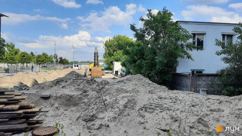Хід будівництва Житловий район Rybalsky, 1 будинок, червень 2021