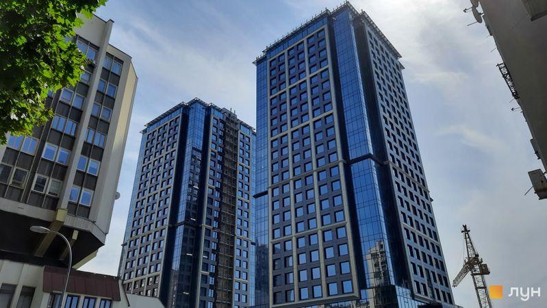 Ход строительства МФК Metropole, 1-2 дома, июнь 2021