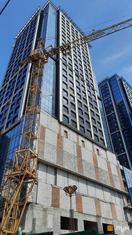 Ход строительства МФК Metropole, 1 дом, июнь 2021