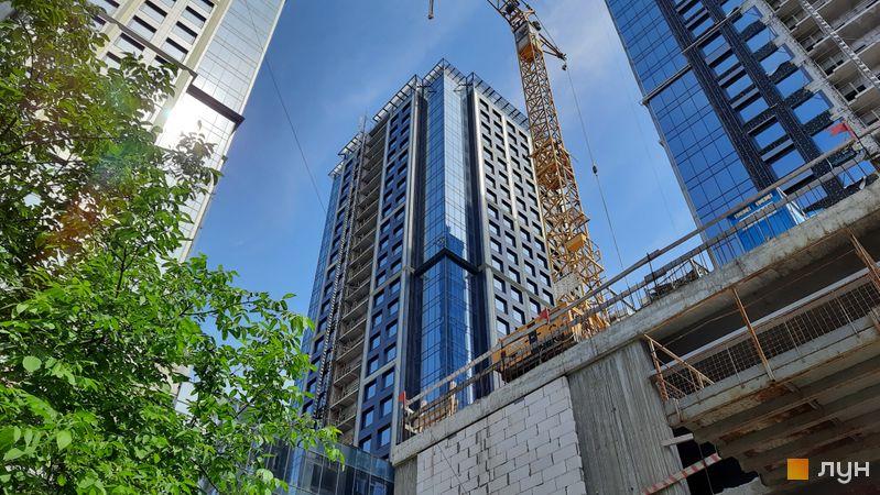 Ход строительства МФК Metropole, 2 дом, июнь 2021